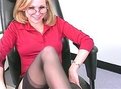 Blonde, Office, Masturbation, Strip, Xhamster