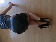 Leather, Heels, Dress, Tight, Xhamster