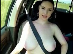 Car, Flashing, Big Tits, Xhamster
