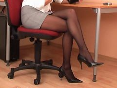 Black, Panties, Pantyhose, Secretary, Xhamster