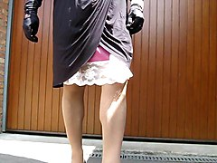 Panties, Crossdresser, Upskirt, Dress, Xhamster